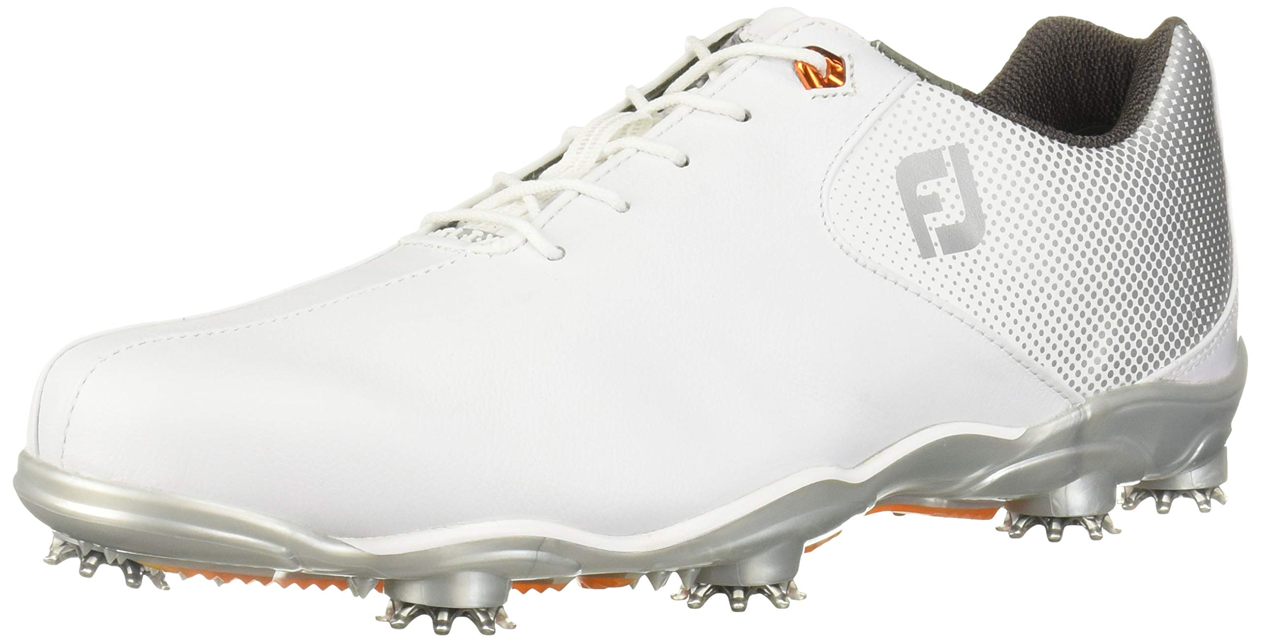 FootJoy Men's D.N.A. Helix-Previous Season Style Golf Shoes White 9.5 M Silver, US by FootJoy