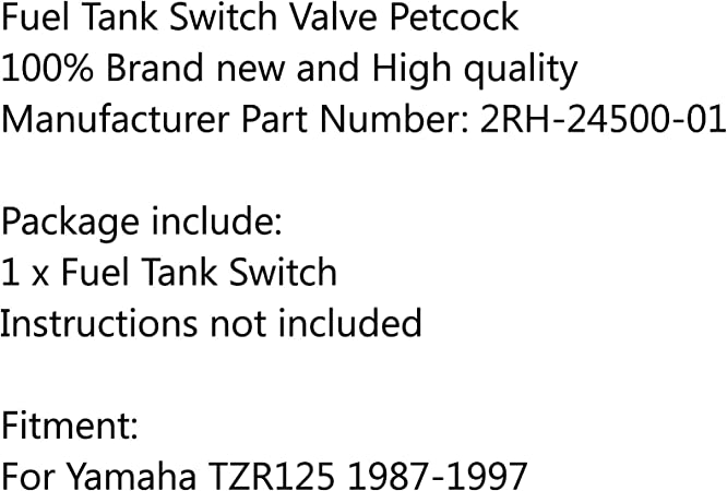 Fuel Petcock for Yamaha TZR125 2RH-24500-01 1987-1997