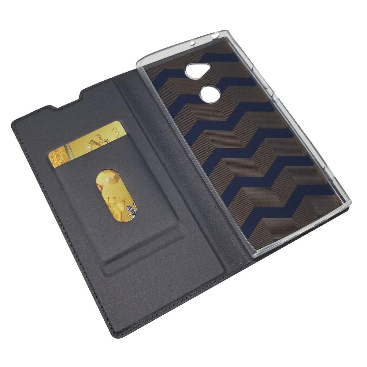 Homory Sony Xperia XA2 Ultra Wallet Multi Card Holder Backcase Bumper Folio PU Leather Cover with Bumper Case for Sony Xperia XA2 Ultra Black