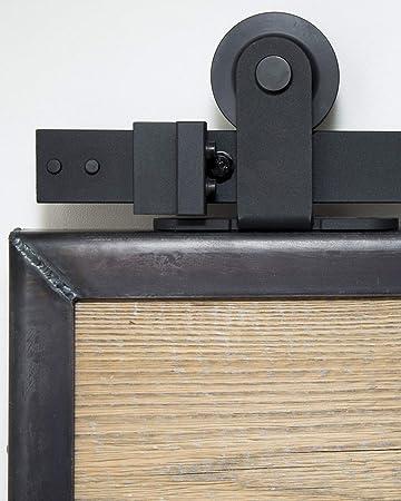 Sistema de puerta corredera superior de 200 cm. Juego completo con ruedas y riel. Sistema de puerta corredera superior de 2 metros - Top black: Amazon.es: Bricolaje y ...