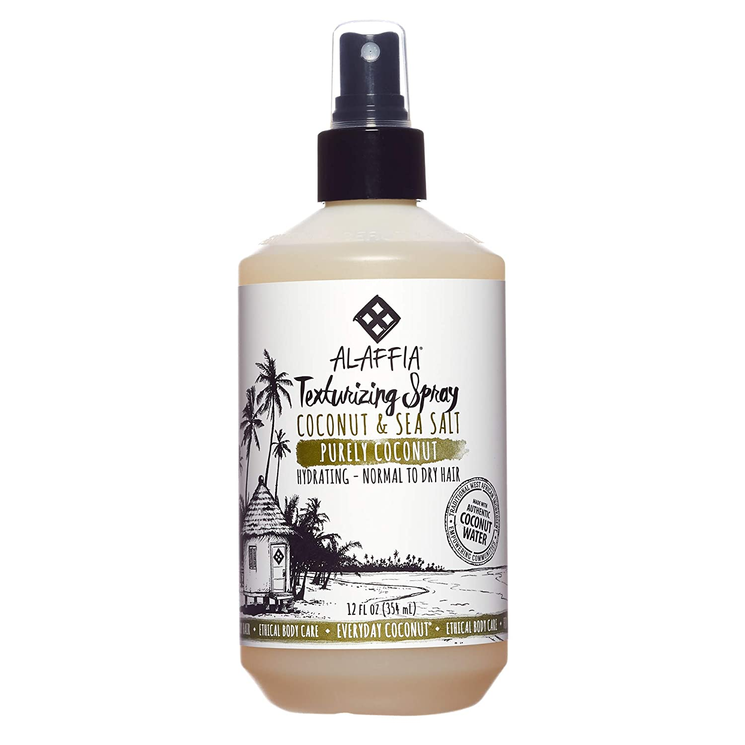 Alaffia - Everyday Coconut Texture Spray Volumizing Sea Salt - 12 oz.