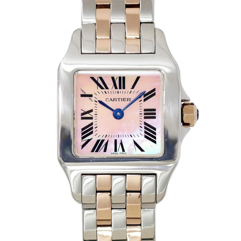 カルティエ Cartier サントスドゥモワゼルSM コンビ W25074Y9 レディース 腕時計 K18PG ピンクゴールド ウォッチ 【中古】 90055385 [並行輸入品] B07FNGW8L3