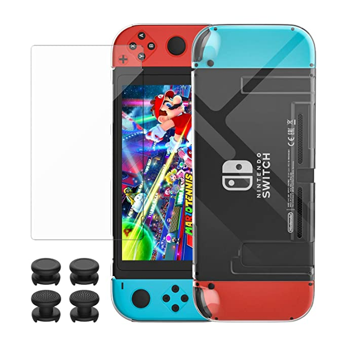 8 opinioni per MoKo Case + Screen Protector for Nintendo Switch, Transparent Protective Cover