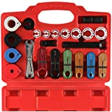 22pcs Master Quick Disconnect Tool Kit for Automotive AC Fuel Line and Transmission Oil Cooler Line, Includes Scissor Type Remover, Compatible with Most Ford Chevy GM Models