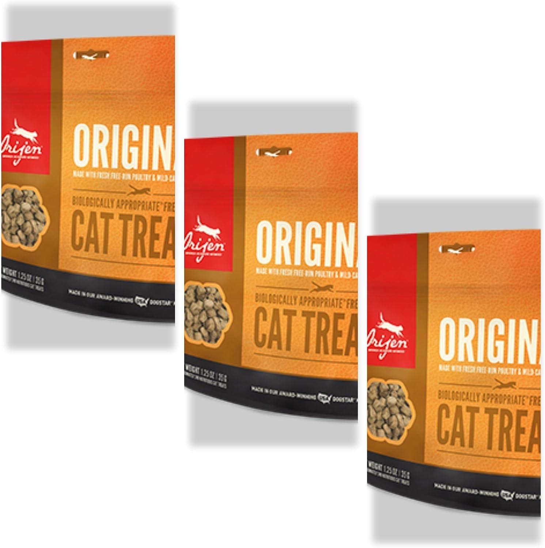 Orijen 3 Pack Original Freeze-dried Cat Treats 1.25 Oz. ea. Fast Free Delivery