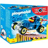 Playmobil - 4181 - Playmobil  - Pilote + Voiture + Transformable Bleue