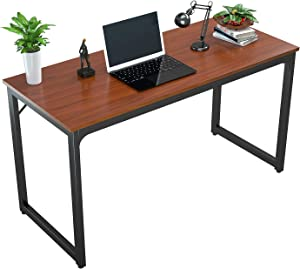 "Foxemart Computer Desk 47"" Modern Sturdy Office Desk 47 Inch PC Laptop Notebook Study Writing Table for Home Office Workstation, Teak"