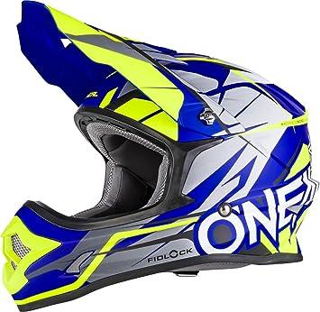 0626-002 - Oneal 3 Series Freerider Fidlock Motocross Helmet S Matt Blue Hi-