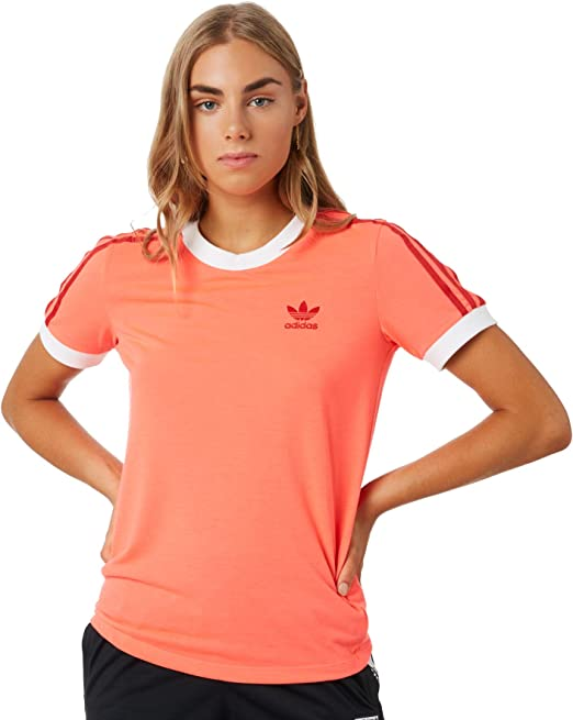 Adidas Tee Damen Reduziert Originals Stripes T Rosa Shirt 3