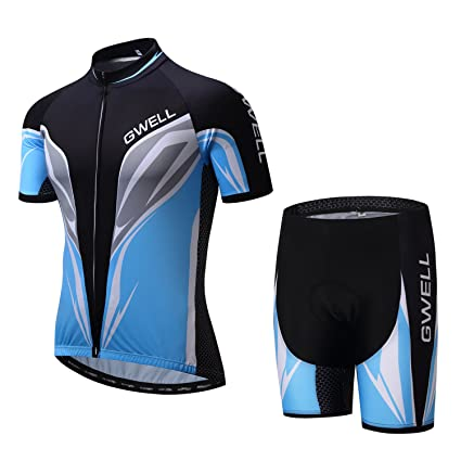 d1f38f549 GWELL Unisex Short Sleeve Cycling Clothing Kit Cycling Jersey and Shorts  for Bike Biker Bicycle (