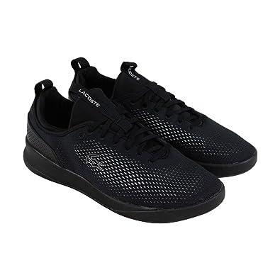 2ce8f7d46 Lacoste Lt Spirit 2.0 318 2 SPM Mens Black Textile Sneakers Shoes 8 ...