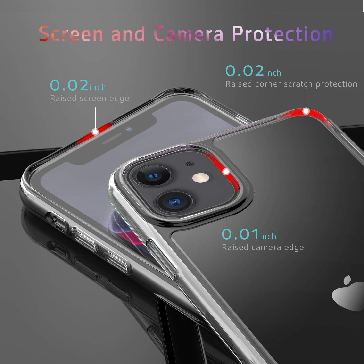 iPhone 11 Case, Supwall 9H Tempered Glass Shock Absorption Anti-Scratch Mimics The Glass Back of iPhone Support Wireless Charging Cover for iPhone 11 Crystal Clear 6.1 inch (Clear)