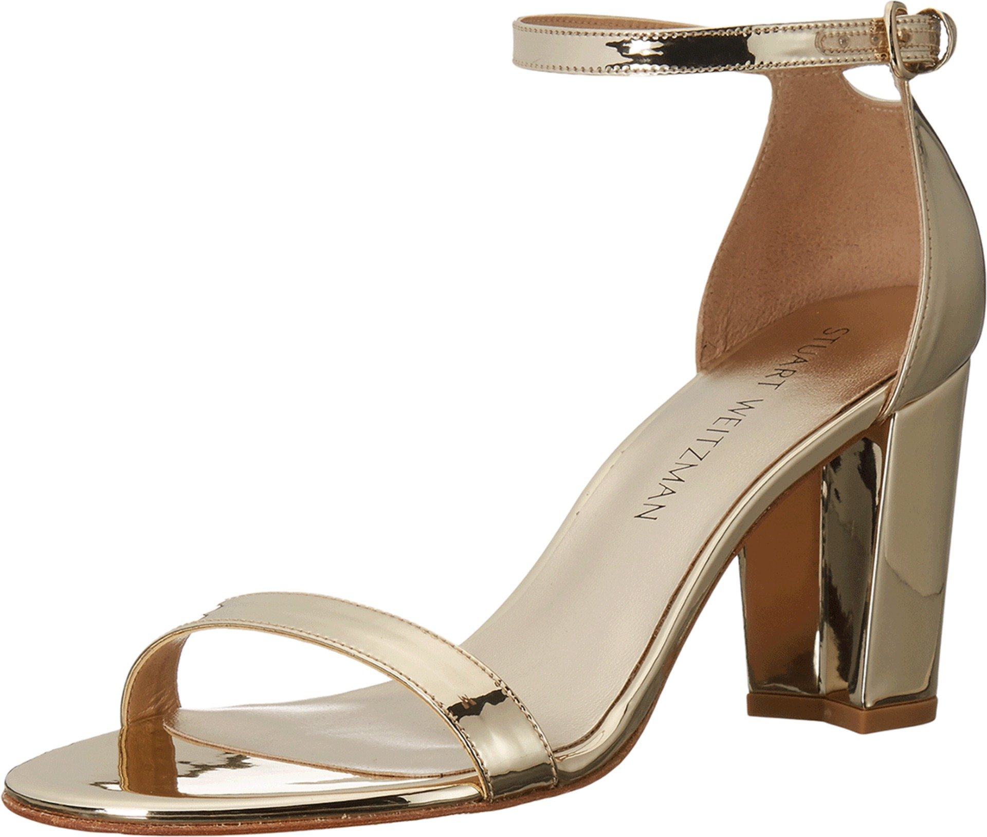 Stuart Weitzman Women's Nearlynude Pale Gold Glass Shoe by Stuart Weitzman