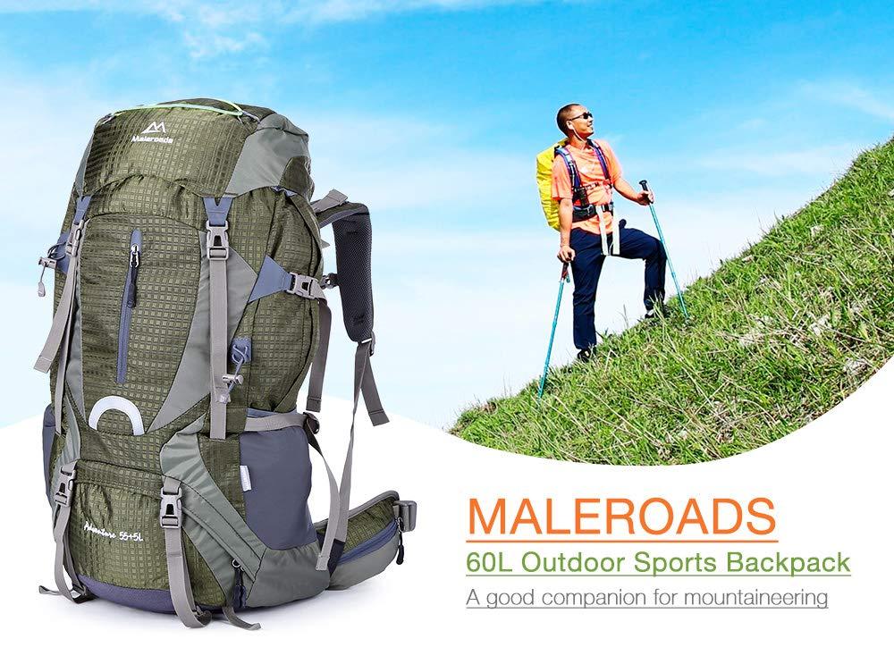IDS Home Maleroads 60L防水 ハイキング キャンプ バックパック  グリーン B07JLLH2J7