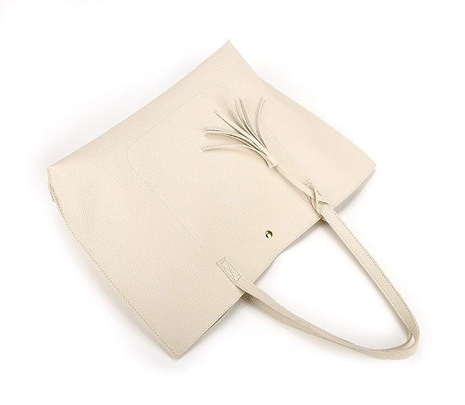 Amazon.com: Nodykka - Bolso de piel sintética con borla para ...