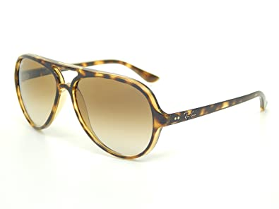Ray Ban Cats 5000 RB4125 710/51 Light Havana/Brown Gradient 59mm Sunglasses