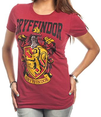 74268525 Amazon.com: Harry Potter Gryffindor Crest Bold Girl Juniors T-Shirt:  Clothing