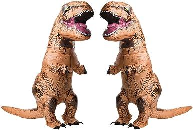 Amazon Com Jurasic World T Rex Adult Inflatable Costume 2 Pack Bundle Set Clothing