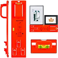 Picture Hanging Tool with Level Easy Frame Picture Hanger Wall Hanging Kit (Red)