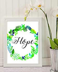 """Change Your Home Décor - Dimensional Wall Art with quote """"HOPE"""" -Best Decoration Item-Hope Wall Art Decor-Faith Hope Love Wall Decor-Home & Living Home Décor Bible Verse #WP-07"""