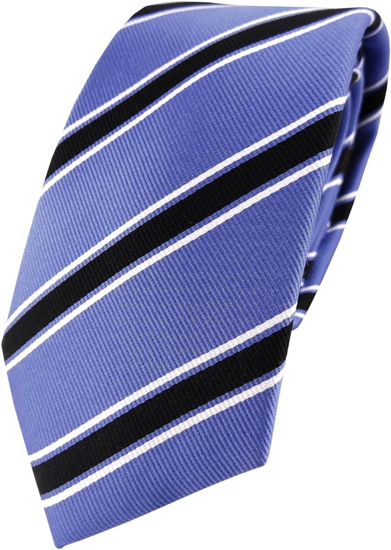 TigerTie XXL diseñador corbata de seda - azul negro blanco rayas ...