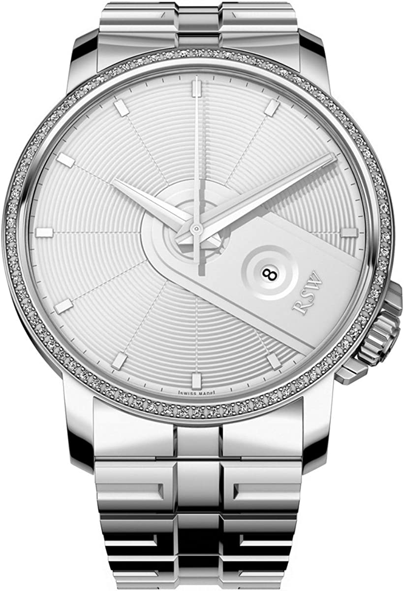 RSW Men's 'Armonia' Swiss Quartz Stainless Steel Dress Watch, Color:Silver-Toned (Model: 9340.BS.S0.5.D1)