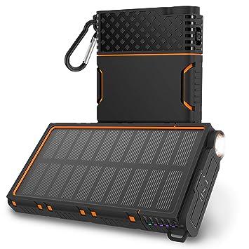 Amazon.com: OUTXE - Cargador solar (10000 mAh, resistente al ...