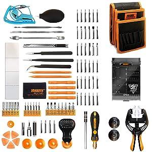 Jakemy Screwdriver Set, 99 in 1 Repair Tool kit, 50 Magnetic Precision Driver Bits, Pocket Tool Bag for iPhone 8/ Plus/PC/Macbook/Tablet