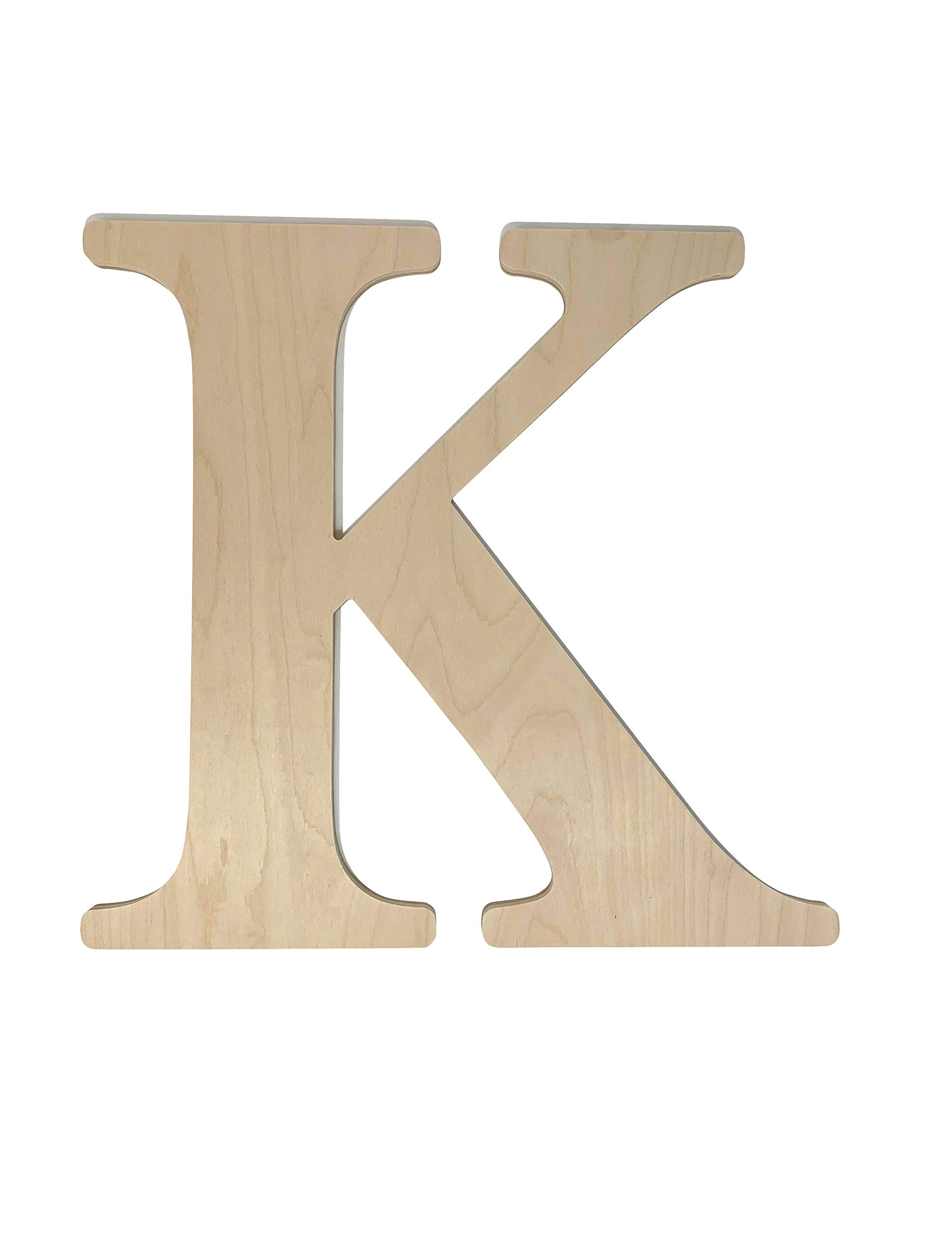 Unfinished Wooden Letter for Wedding Guest Book Alternative or Wall Decor (24'') (Letter K)