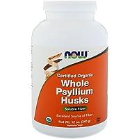 Now Foods Certified Whole Psyllium Husks, 340g