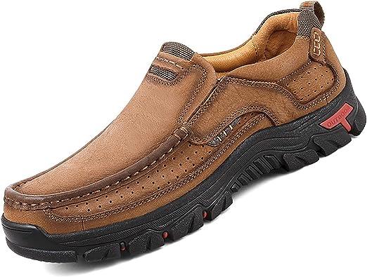 Cosidram Zapatos Informales Para Hombre Mocasines Con Piel Cálidos En Invierno Piel Genuina Cómodos Para Caminar De Moda Para Usar En La Oficina Y Al Aire Libre Shoes