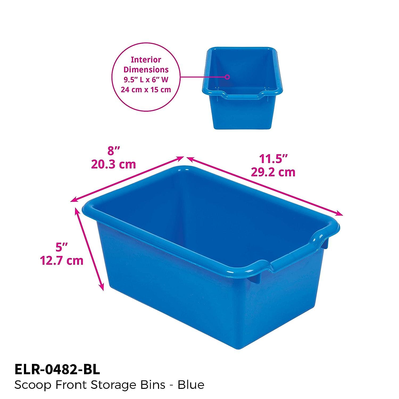 Amazon.com: ECR4Kids Scoop Front Storage Bins, Blue (10Pack): Industrial U0026  Scientific