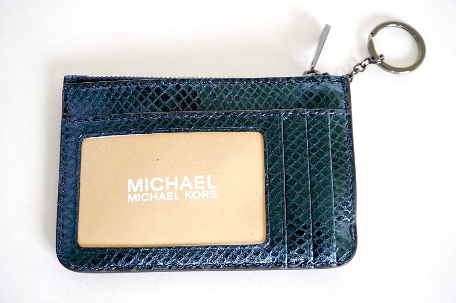 7caaa11545e6 Michael Kors Adele Small Top Zip Coin Pouch ID Card Case Wallet (Deep Teal)  at Amazon Women s Clothing store