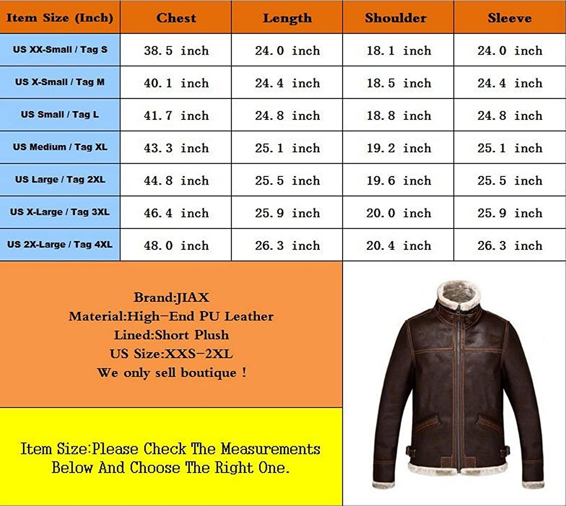 JIAX Resident Evil 4 Mens Winter Thicken Faux Leather Jacket Warmer Coat