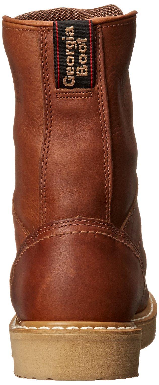 Georgia Boot Men's 8 Inch Wedge Work Shoe, Barracuda Gold, 12 W US by Georgia (Image #2)