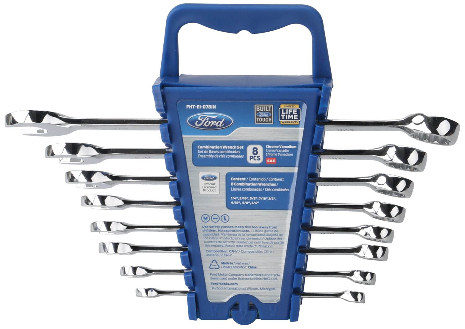 Ford 8-Piece Combination Wrench Set SAE
