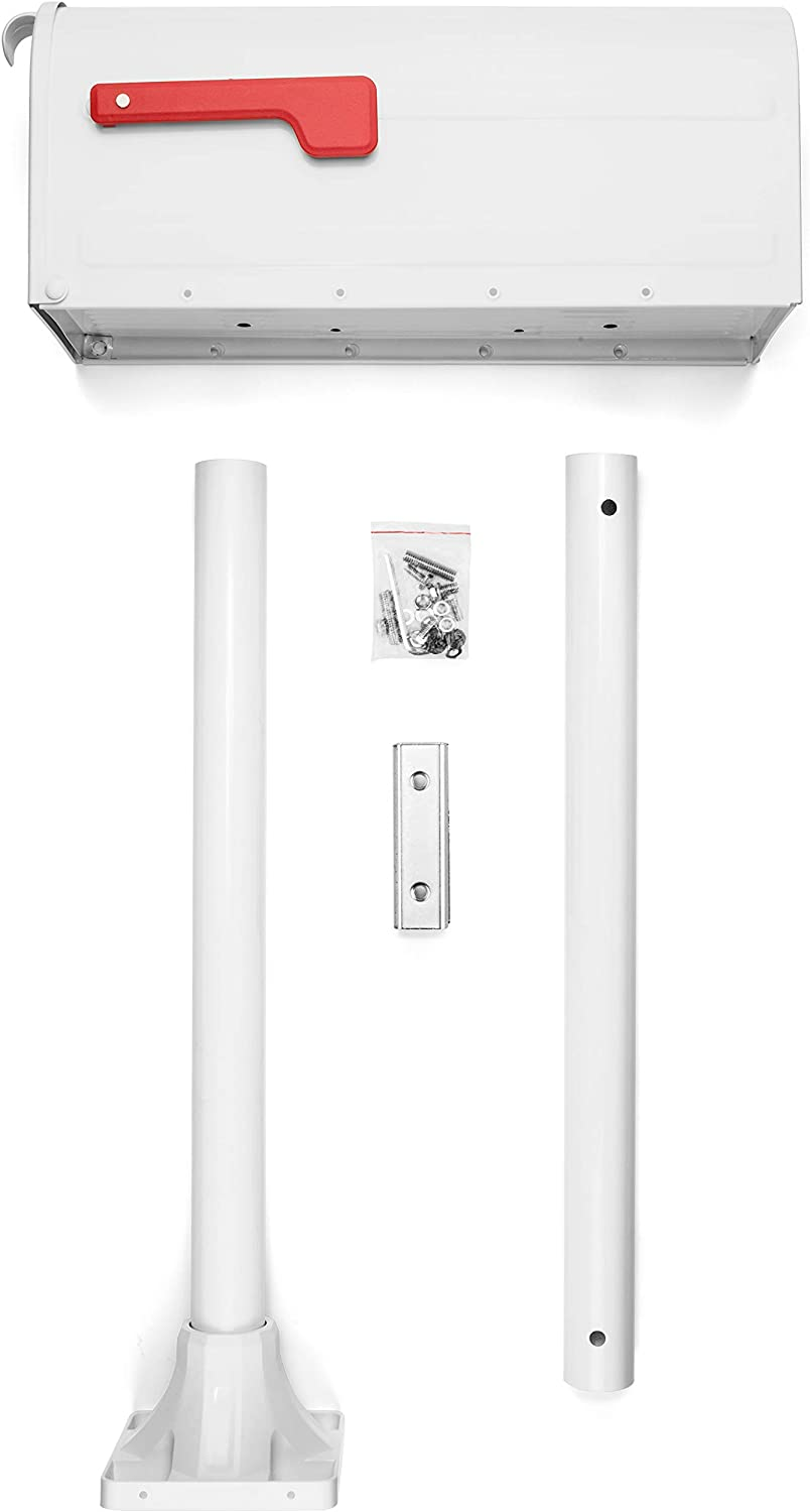 White Architectural Mailboxes 7680W-10 MB1 Mailbox Kit