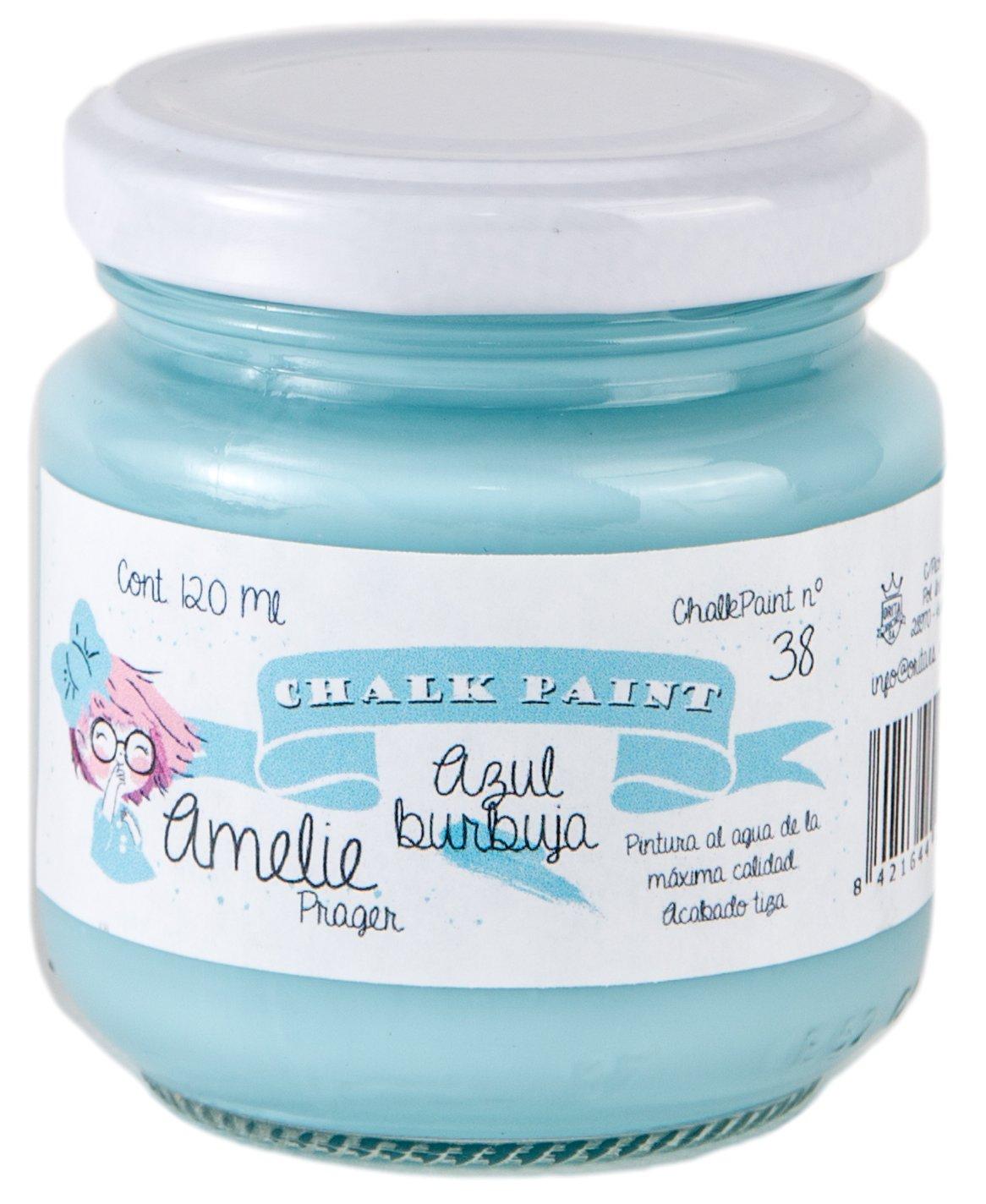 Amelie Prager 120-38 Pintura a la Tiza, Azul Burbuja, 120 ml