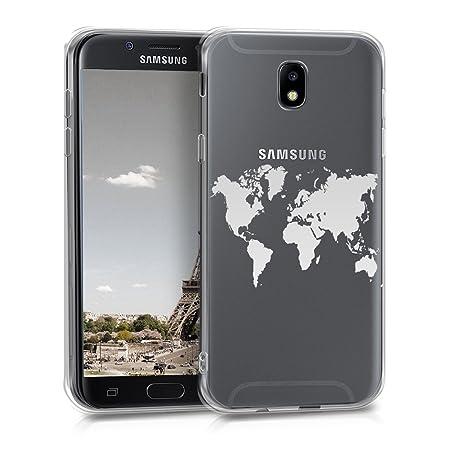 kwmobile Samsung Galaxy J5 (2017) DUOS Hülle - Handyhülle für Samsung Galaxy J5 (2017) DUOS - Handy Case in Silber Transparen