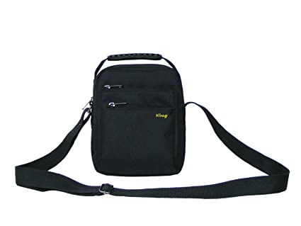 25e3edac79 Image Unavailable. Image not available for. Color  HBAG Mens Small Messenger  Shoulder Satchel Sling Bag ...