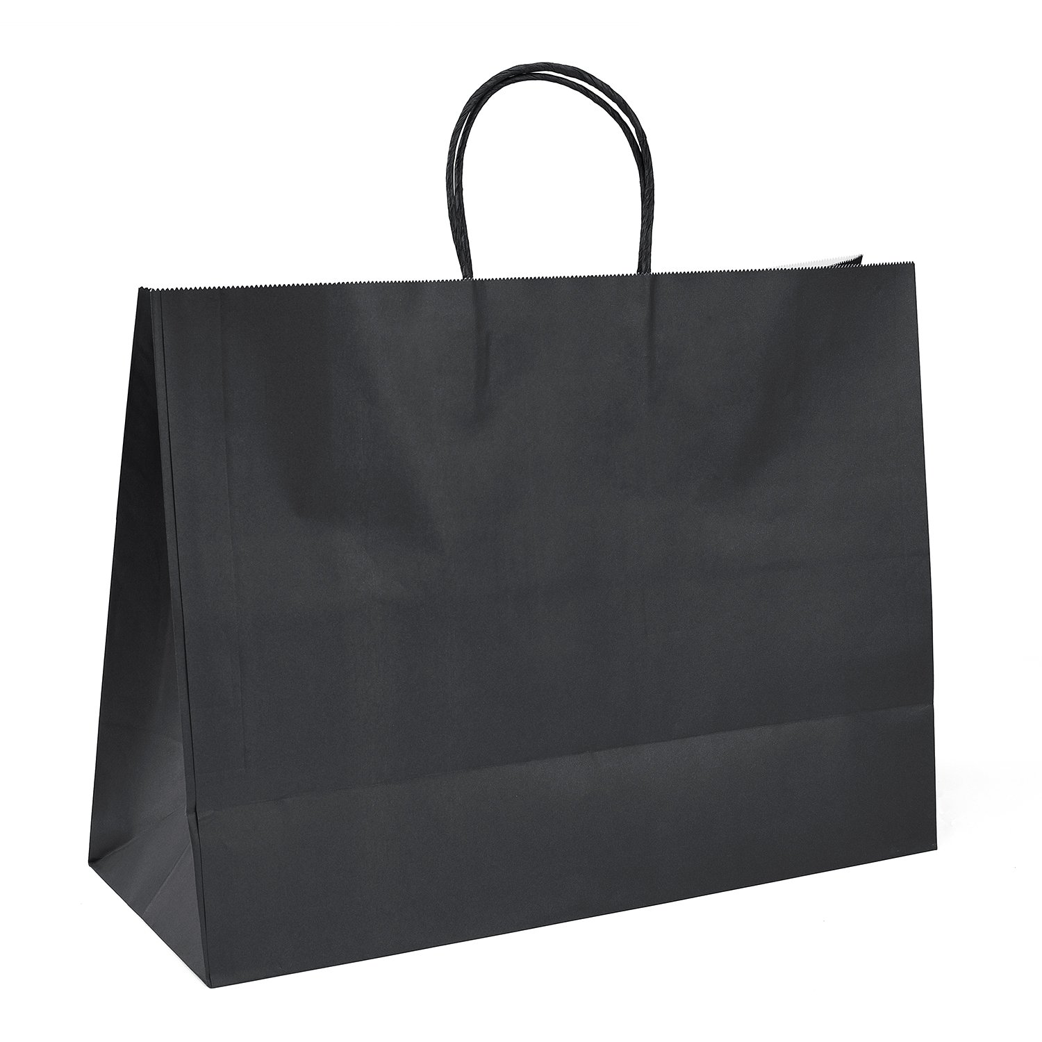 Black Gift Bags 16x6x12''100Pcs GSSUSA Sturdy Shopping Bags,Party Bags,Merchandise Bag, Kraft Bags, Retail Bags, Black Paper Bags with Handles
