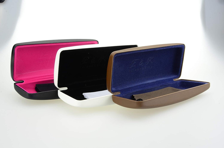 Edison & King Resistente Estuche para Gafas en Muchos Colores. También apropiado como Estuche para Gafas de Sol. Incluye paño para Limpieza de Gafas ...