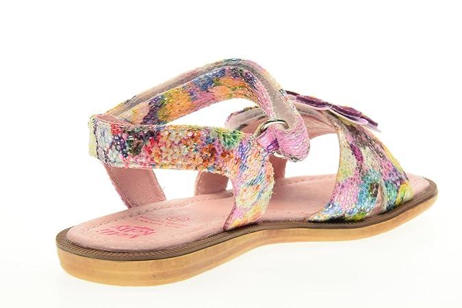 LELLI KELLY - Sandale rose et blanche Zoo en cuir brillant, fille, femme:  Amazon.fr: Chaussures et Sacs