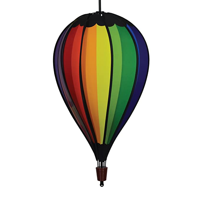In the Breeze 0999 Rainbow Spectrum Hot Air 10-Panel Hanging, Spinning Balloon Decoration, 25