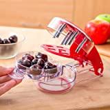 Turelifes Cherrystone Remover - Multiple Cherry Pitter Tool - 6 Cherries Red color