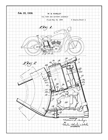 Amazon Com Harley Motorcycle Oil Tank And Battery Assembly Patent
