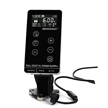 3ee4c5fc93f2d Amazon.com: BRONC Professional Tattoo Power Supply Touch Screen Digital LCD  for Tattoo Machines: Beauty