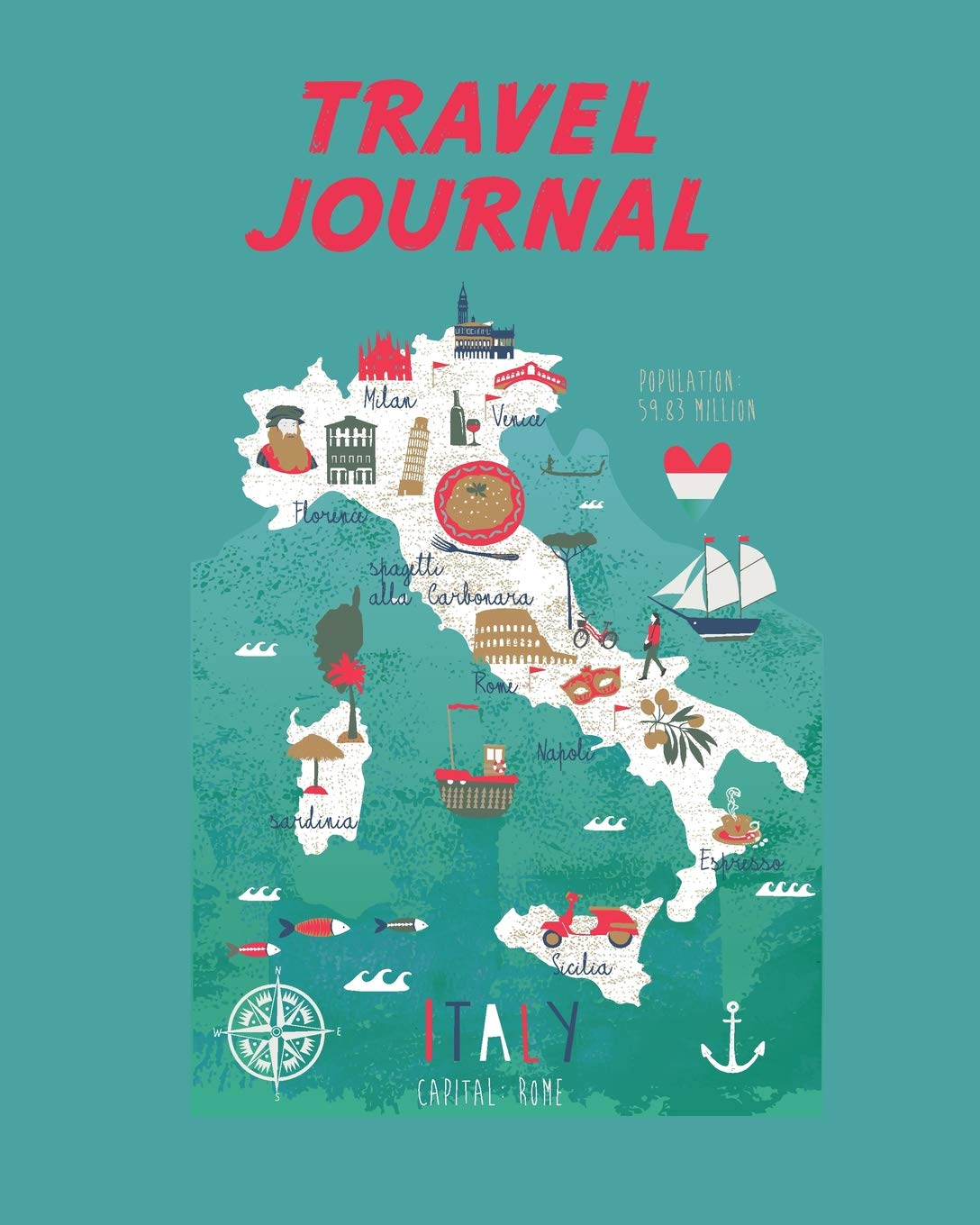 Map Of Italy Simple.Travel Journal Italy Map Kid S Travel Journal Simple Fun Holiday