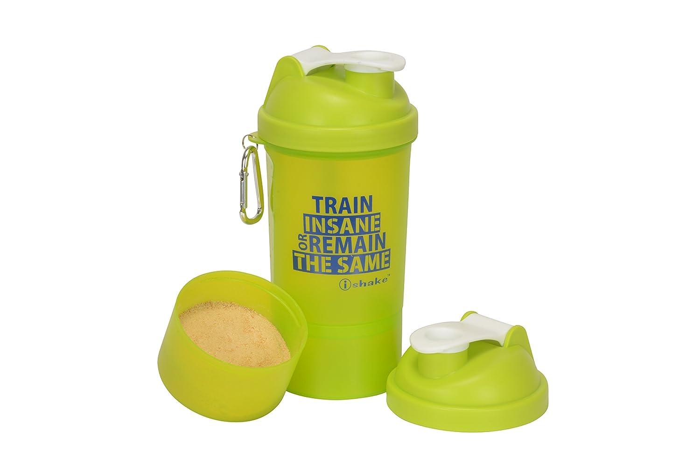 IShake 020 Smart One Plastic Storage Bottle, 500ml (Green/White)