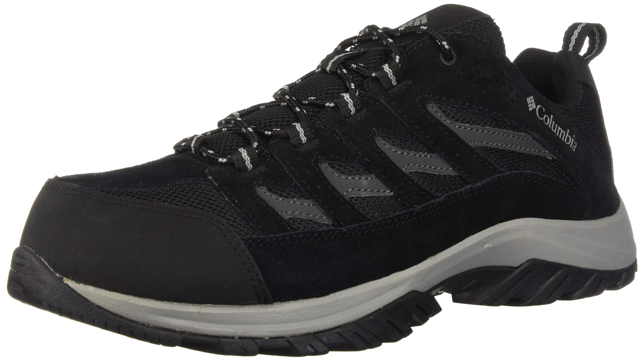Columbia Men's Crestwood Hiking Shoe, Black/Columbia Grey, Grey, 16 Regular US